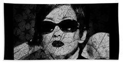 The Cracked Facade Beach Towel by Absinthe Art By Michelle LeAnn Scott