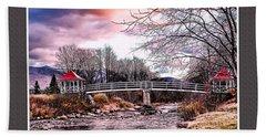 The Crossing II Brenton Woods Nh Beach Sheet by Tom Prendergast