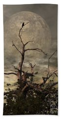 The Crow Tree Beach Towel by Isabella F Abbie Shores FRSA