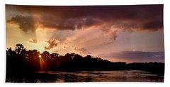 Beach Towel featuring the photograph The Cumberland River by Chris Tarpening