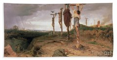The Damned Field Execution Place In The Roman Empire Beach Towel