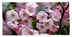 The Delicate Cherry Blossoms Beach Sheet by Patti Whitten