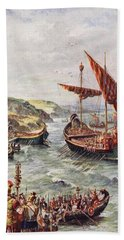The Departure Of The Romans Beach Towel