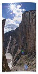 The Diamond, Longs Peak, Rocky Mountain Beach Towel