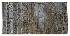 Beach Towel featuring the photograph The Door To The Past by Wilma  Birdwell