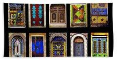 The Doors Of Yemen Beach Towel