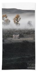 Beach Towel featuring the photograph The Dream Cow Of Mourning by Brian Boyle