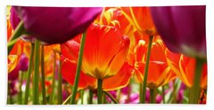 The Drooping Tulip Beach Towel