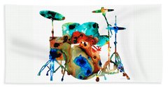 Rock And Roll Drums Beach Towels