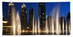 The Dubai Fountains Beach Towel