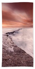The Edge Of Earth Beach Towel