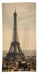 The Eiffel Tower In Paris France Beach Sheet