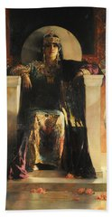 The Empress Theodora Beach Towel by Jean-Joseph Benjamin-Constant
