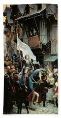 The Entrance Of Joan Of Arc Into Orleans Beach Towel
