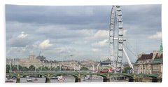 Beach Sheet featuring the photograph The Eye Of London by Keith Armstrong