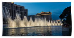 The Fabulous Fountains At Bellagio - Las Vegas Beach Towel