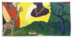 The Faces Of Africa Beach Towel