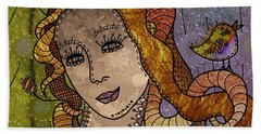 Beach Sheet featuring the digital art The Fairy Godmother by Barbara Orenya