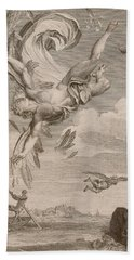 The Fall Of Icarus, 1731 Beach Towel