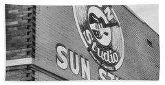 The Famous Sun Studio In Memphis Tennessee Beach Towel