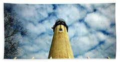 The Fenwick Light And A Mackerel Sky Beach Towel