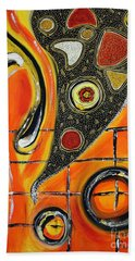 The Fires Of Charged Emotions Beach Towel by Jolanta Anna Karolska