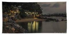 The First Evening Light Reflections Beach Sheet