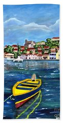 The Fishing Boat  Beach Towel
