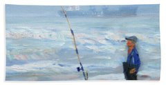 The Fishing Man Beach Towel