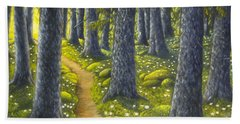 The Forest Path Beach Towel