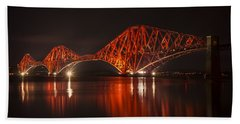 The Forth Bridge By Night Beach Towel