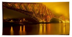 The Forth Bridge From North Queensferry Beach Towel