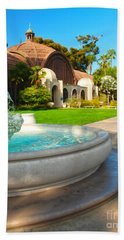 Botanical Building And Fountain At Balboa Park Beach Towel by Claudia Ellis