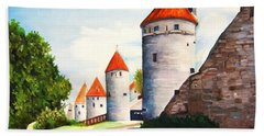 The Four Old Towers Estonia Beach Towel