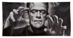 The Frankenstein Monster Beach Towel