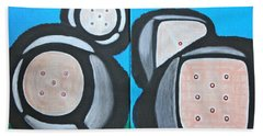 Beach Towel featuring the painting The Game Of Life by Lorna Maza