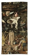 The Garden Of Earthly Delights, C.1500 Oil On Panel Detail Of 3425 Beach Towel