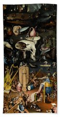 The Garden Of Earthly Delights. Right Panel Beach Sheet by Hieronymus Bosch