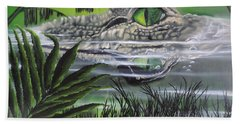 Beach Towel featuring the painting The Glades by Dianna Lewis