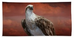 The Glory Of An Eagle Beach Sheet by Holly Kempe