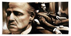 The Godfather Artwork Beach Towel by Sheraz A