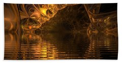 The Golden Cave Beach Towel