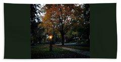 Illuminating Autumn Beach Towel