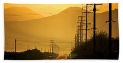 The Golden Road Beach Sheet by Matt Harang