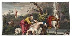 The Good Samaritan, Illustration Beach Towel