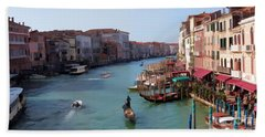 The Grand Canal Venice Oil Effect Beach Towel
