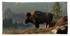 The Great American Bison Beach Towel