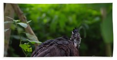 The Great Curassow 2 Beach Towel by Michelle Meenawong
