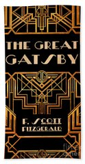 The Great Gatsby Book Cover Movie Poster Art 3 Beach Towel
