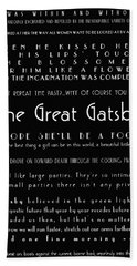 The Great Gatsby Quotes Beach Towel